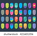 vector background with set of... | Shutterstock .eps vector #421601356