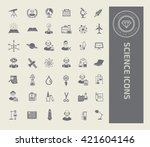 science icon set vector | Shutterstock .eps vector #421604146