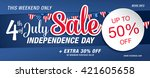 independence day sale banner... | Shutterstock .eps vector #421605658