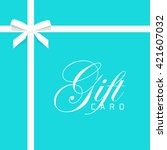 gift card vector illustration... | Shutterstock .eps vector #421607032