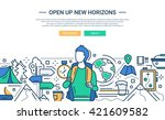 illustration of vector modern... | Shutterstock .eps vector #421609582