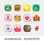 mobile app icons vector set...