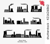 factory icon vector | Shutterstock .eps vector #421626862