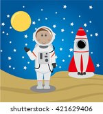astronaut and universe | Shutterstock .eps vector #421629406