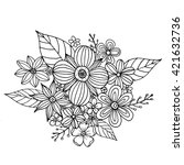 coloring page with doodle... | Shutterstock .eps vector #421632736