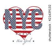 t shirt typography design  nyc... | Shutterstock .eps vector #421639132