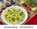 healthy low calories spring... | Shutterstock . vector #421642012
