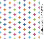 seamless pattern from  crosses   Shutterstock .eps vector #421644955