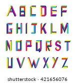 vector abstract alphabet on... | Shutterstock .eps vector #421656076