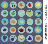 icons of fruit | Shutterstock .eps vector #421656568