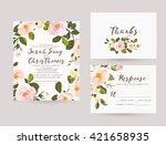 wedding invitation card suite... | Shutterstock .eps vector #421658935