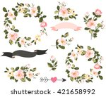 wedding graphic set with... | Shutterstock .eps vector #421658992