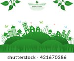 ecology connection  concept... | Shutterstock .eps vector #421670386