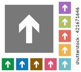 up arrow flat icon set on color ...
