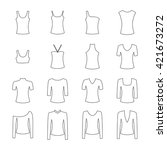 set of clothes icons  vector... | Shutterstock .eps vector #421673272