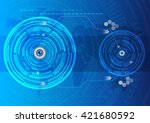 eyes abstract technology... | Shutterstock .eps vector #421680592