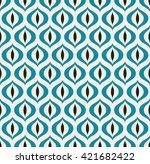 retro geometric seamless... | Shutterstock . vector #421682422