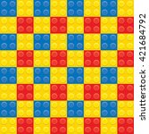 red blue and yellow plastic... | Shutterstock . vector #421684792