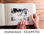 fathers day composition. photo... | Shutterstock . vector #421694752