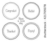 set of hand drawn style badges... | Shutterstock . vector #421705078