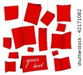 set of red vector blank white... | Shutterstock .eps vector #42171082