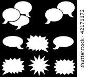 white dialog bubbles   Shutterstock . vector #42171172
