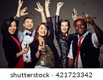 drinking for the party | Shutterstock . vector #421723342
