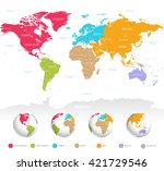 high detail vector colorful map ... | Shutterstock .eps vector #421729546
