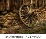 Old Wood Coach Wheel Around...