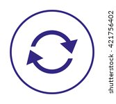 circular arrow sign icon. two...