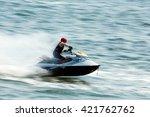 Young Man On Jet Ski....