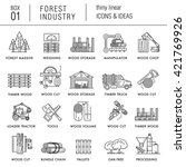 the forest industry in the... | Shutterstock .eps vector #421769926