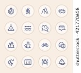 travel web icons.  vacation and ... | Shutterstock .eps vector #421770658