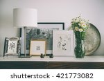 framed pictures  flowers and...   Shutterstock . vector #421773082