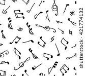 monochrome seamless music...   Shutterstock .eps vector #421774132