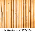 Yellow Bamboo Fence Texture ...