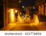 Night View To The Street In Th...