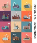 set of building plant or... | Shutterstock . vector #421786432