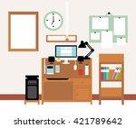 flat design vector illustration ... | Shutterstock .eps vector #421789642