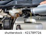 car lubricator check car... | Shutterstock . vector #421789726