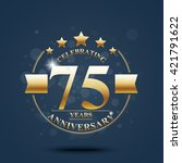 happy anniversary celebration... | Shutterstock .eps vector #421791622