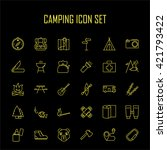 camping icons. outdoor... | Shutterstock .eps vector #421793422