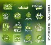 vector eco  organic  bio logos... | Shutterstock .eps vector #421798066