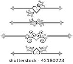 decorative design elements ... | Shutterstock .eps vector #42180223