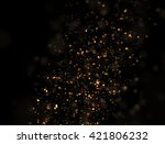 abstract gold glitter explosion ... | Shutterstock . vector #421806232