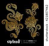 vector illustration of golden... | Shutterstock .eps vector #421807462