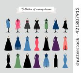 Evening Dresses. Vector Party...