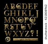gold alphabet | Shutterstock . vector #421808962