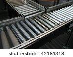 crossing of the roller conveyor   Shutterstock . vector #42181318
