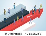 business people group standing... | Shutterstock .eps vector #421816258
